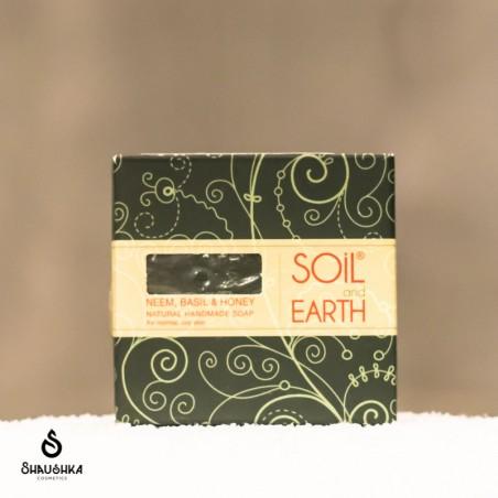 Mydło SOIL&EARTH z Neem, Bazylią i Miodem